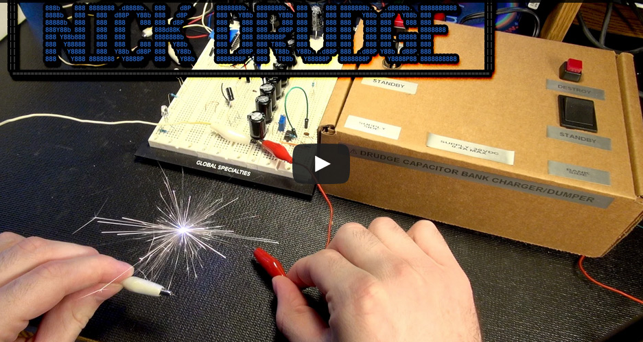 Tiny Capacitor Bank, Tiny Coilgun, Lots of SPARKS!