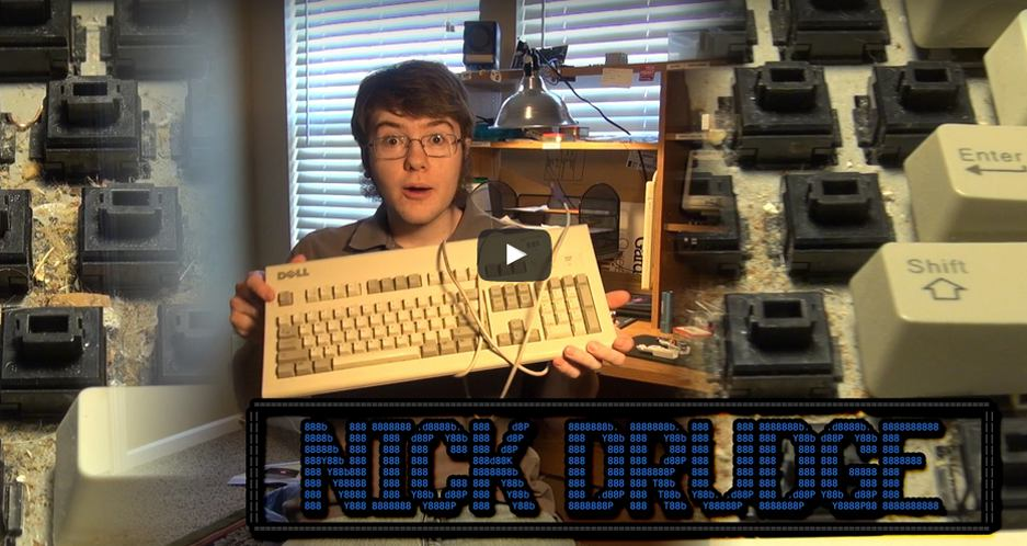 """Dell AT-101W """"Big Foot"""" Keyboard Cleaning"""