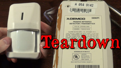 Ademco 5890PI Passive Infared Detector and Transmitter Teardown